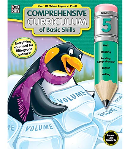 Comprehensive Curriculum of Basic Skills Fifth Grade Workbook—State Standards Lesson Plan and Activity Book for Math, Reading Comprehension, Writing (544 pgs)