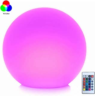 LED Ball Light, 8-Inch Rechargeable Mood Lights Multicolor Changing IP67 Waterproof Indoor/Outdoor Light for Home/Party/Wedding/Lawn Decoration