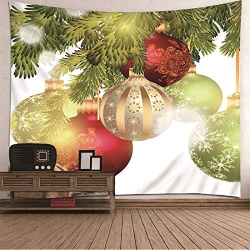 Tapiz de Navidad para colgar en la pared, colcha de mesa, bolas de Navidad, tapiz para dormitorio de 224 x 2014 cm