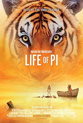 Life of Pi Movie (2012) Poster Wall Hanging Gift Home Room Decor (Paper Unframed, 16x24)