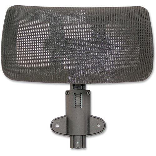 Lorell Hi-Back Chair Mesh Headrest, Black - LLR85562