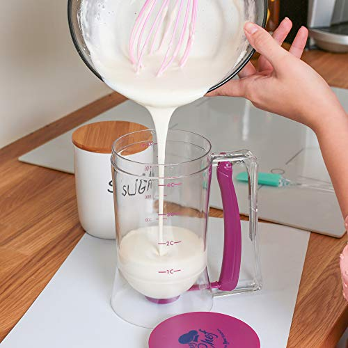 Pancake Cupcake Batter Dispenser Tool - Pancake Batter Dispenser Cupcakes Muffins & Waffles – Batter Dispenser with squeeze handle – Chuzy Chef