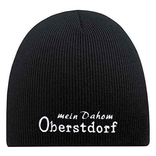 Fan-O-Menal Beanie-Mütze mit Einstickung – Mein dahom Oberstdorf - 54855 Schwarz