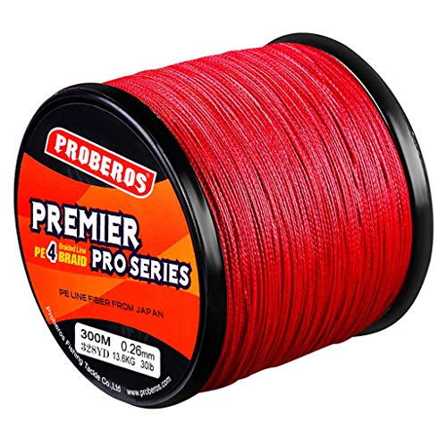 Great Features Of HoneyGod PE Braid Fishing Line - 4 Strands 300M 30Lb PE Fishing Wire Multifilament...