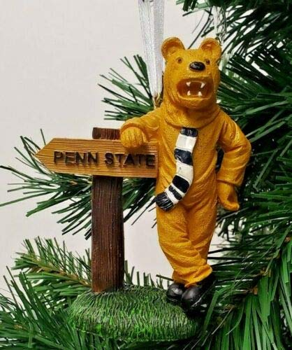 Seasons Designs Penn State Nittany Lions Mascot Ornament with Sign 4''