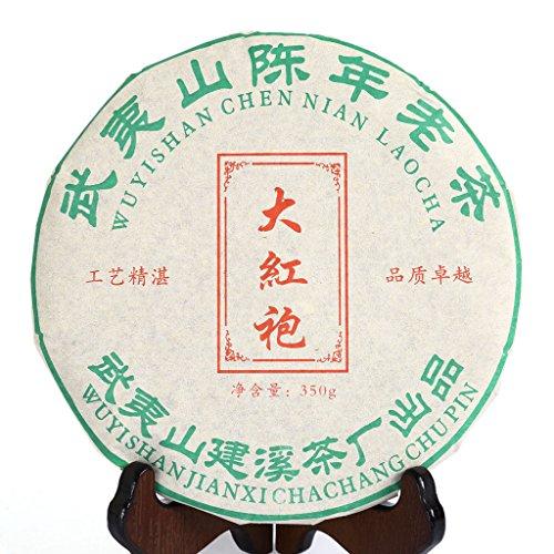 GOARTEA 2010 Year 350g (12.3 Oz) Supreme Wu Yi Rock Da Hong Pao Dahongpao Big Red Robe Chinese Oolong Tea Cake Tee