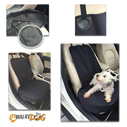 WALKY Dog Vordersitzbezüge für Autos Trucks und SUV, Deluxe Front Seat, Schwarz