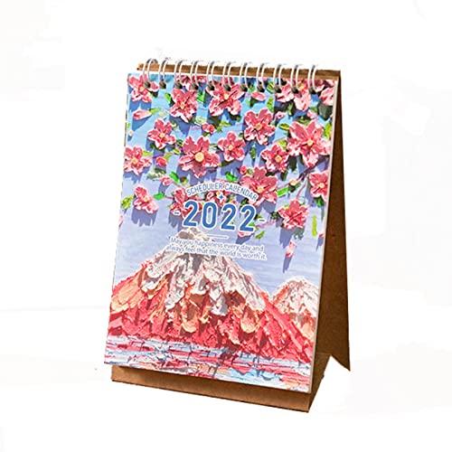 2022 Desk Calendar Stand Up Desktop Year Calendar,Desktop Calendar,Jan 2022 to Dec 2022 for Home Office School Scheduler,Desktop Calendar(Color:E)