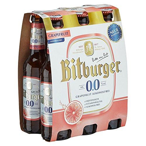 Bitburger 0.0% Grapefruit Alkoholfrei Mehrweg (6 x 0.33 l)