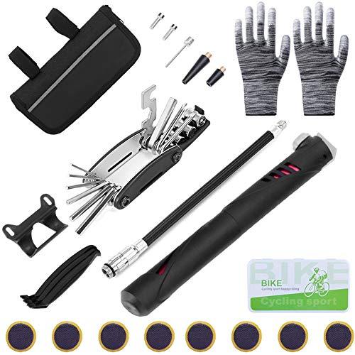 Sunshine smile Fahrrad-Multitool Multifunktionswerkzeug,Fahrradwerkzeug Tool,Fahrrad Reparatur Set,Fahrrad Werkzeug Mit Tasche,Fahrradwerkzeug Für Unterwegs,Bike Repair Kit (B)