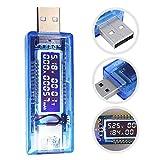 BINWO Multimetro Power Monitors USB tester di tensione (4V-9V) amperometro corrente (0A-3....