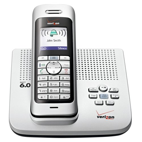 verizon cordless phones Verizon VZ-V300AM-1 DECT 6.0 Cordless Phone with Enhanced Features (Silver)