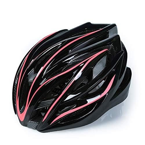 CANALO Fahrradhelm PC Und EPS-Material 28 Belüftungsöffnungen Fahrradhelm Verstellbare Größe Leicht Und Bequem,Rot