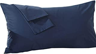 beddingstar Body Pillowcase 20x48 Navy Blue Body Pillow Cover 100% Pure Egyptian Cotton Heavy Quality 1-Pieces 20x48 Body Pillow Case Genuine 600 Thread Count Zipper Body Pillow Cover Navy Blue