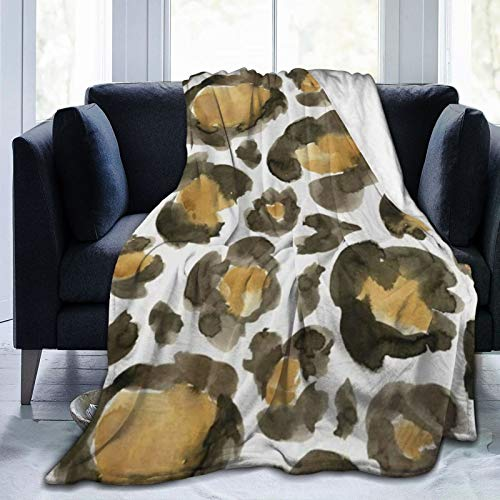 Micro Fleece Plush Soft Baby Blanket Watercolor Leopard Camouflage Fluffy Warm Toddler Bed/Crib Blanket Lightweight Flannel Daycare Nap Kids Sleeping Tummy Time Throw Blanket Girls Boy Clearance 50x40