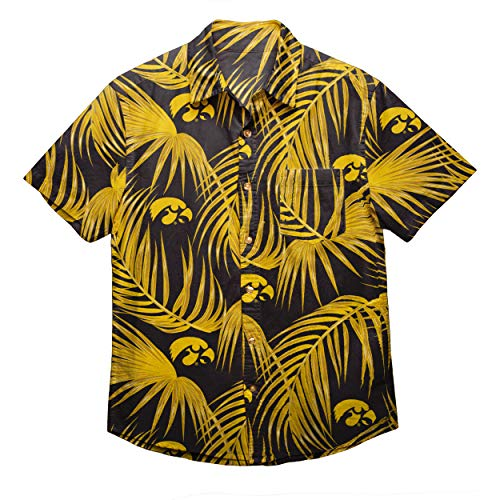 NCAA Mens Floral Shirt: Iowa Hawkeyes, Medium