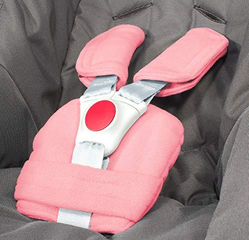 ByBoom - Gordelkussenset - universeel voor babyzitje, buggy, kinderwagen, kinderzitje (bijvoorbeeld Maxi Cosi City SPS, Cabrio, Cybex Aton etc.); In tal van kleuren; MADE IN EU