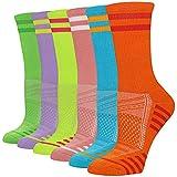 LITERRA Womens Ankle Socks 6-Pairs Athletic...
