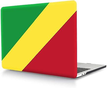 Funda de plástico duro para portátil, diseño de bandera nacional y cubierta para teclado y protector de visualización sólo compatible con MacBook Pro de 15 pulgadas con visualización Retina (A1398), The republic of Congo