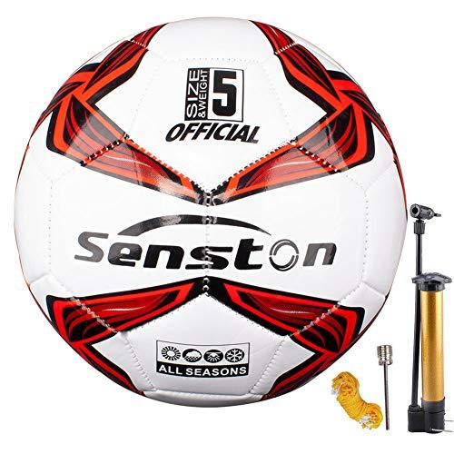 Senston Balon de Futbol Tamaño 5 Balones de Futbol Training Balón Balones de Fútbol de Entrenamiento