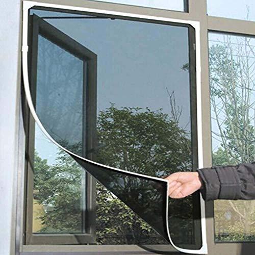 HSY SHOP Schwarzgraues Fenster Insektenschutznetz mit 1 Rolle Selbstklebendem Rahmenband Fliegengitter Moskito-Schutznetz Netzgitter Fenstervorhang 1,3 m * 1,5 m (Color : Black)