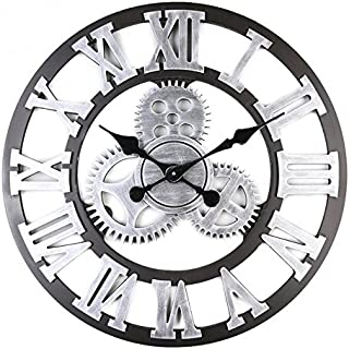 Alicemall Pendule Murale Décoration Industrielle Design Horloge Murale Style Vintage (6)