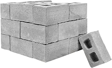 Fan-Ling 2019 Newest Mini Cement Brick and Mortar Set,Let You Build Your Own Tiny Wall Mini Bricks,DIY Toy,Creative Crafts,DIY Mini Craft Landscape Decoration (Gray:25pcs)