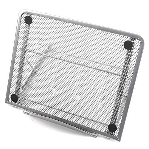 FOCCTS Soporte Ajustable Ventilado para Portátil Ergonomic Universal 19.5*24cm (Plata)