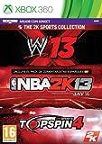 2K Sports Bundle: NBA 2K13 + Top Spin 4 + WWE 13