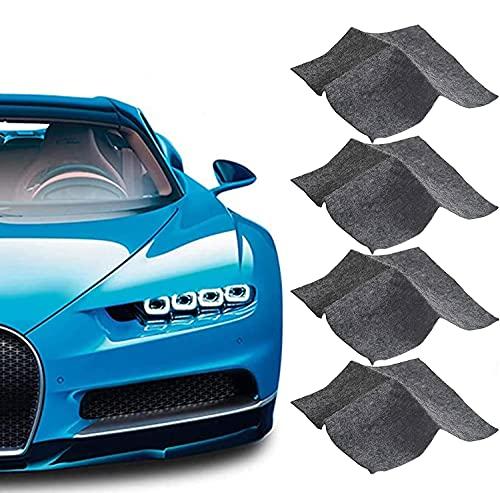 Nano Sparkle Tuch, Nano Sparkle Tuch für Auto Kratzer Entfernen(4 Stück),Mehrzweck Car Scratch Remover für Reparatur von leichten Kratzfarben,Lackpflege, Detailing, Autoreinigung,Nanotechnologie