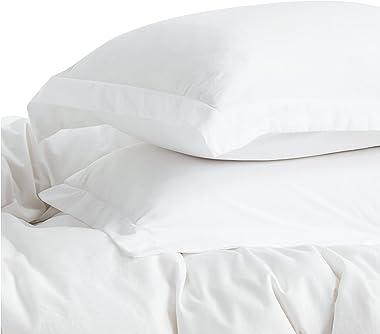 Bedsure White Duvet Cover King Size - Washed Cotton Like Soft King Duvet Cover Set 3 Pieces with Zipper Closure, 1 Duvet Cove