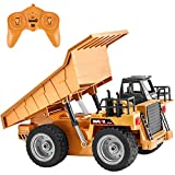 GotechoD Remote Control Construction Truck 1/18 Remote Control Dump Truck RC Construction Vehicles Remote Truck Toys for 6-15 Years Old Boys Kids