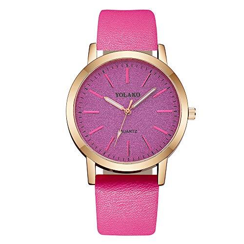 Neueste! Armbanduhr Uhren Mode Damen Casual Edelstahl Armband Kleid Uhr Lederband Analog Quarz Uhr Lederarmband LEEDY