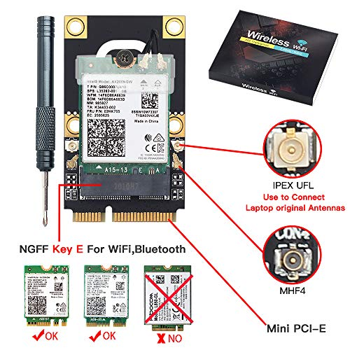 M.2 to PCIe Converter for Laptop NGFF M.2 Key A+E WiFi Bluetooth Card to Mini PCI-E Converter Adapter Make Your Newest M.2 WiFi Card on laptops 2010-2016 Laptops Based on PCI Express Solt