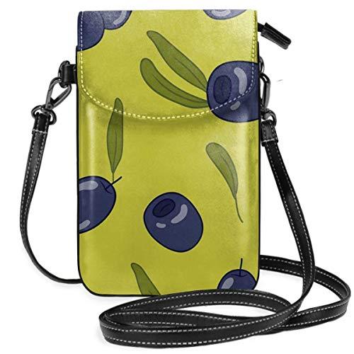 Black Olives - Bolso de piel sintética para teléfono móvil, con 1...