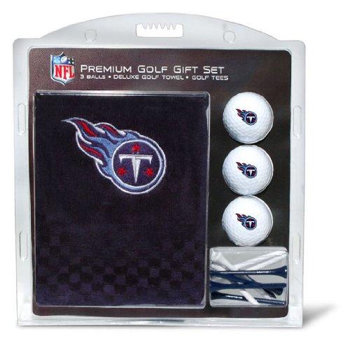 Team Golf NFL Tennessee Titans Geschenkset Besticktes Golf-Handtuch, 3 Golfbälle und 14 Golf-Tees 6,5 cm Regulierung, dreifach gefaltetes Handtuch 40,6 x 55,9 cm und 100 % Baumwolle