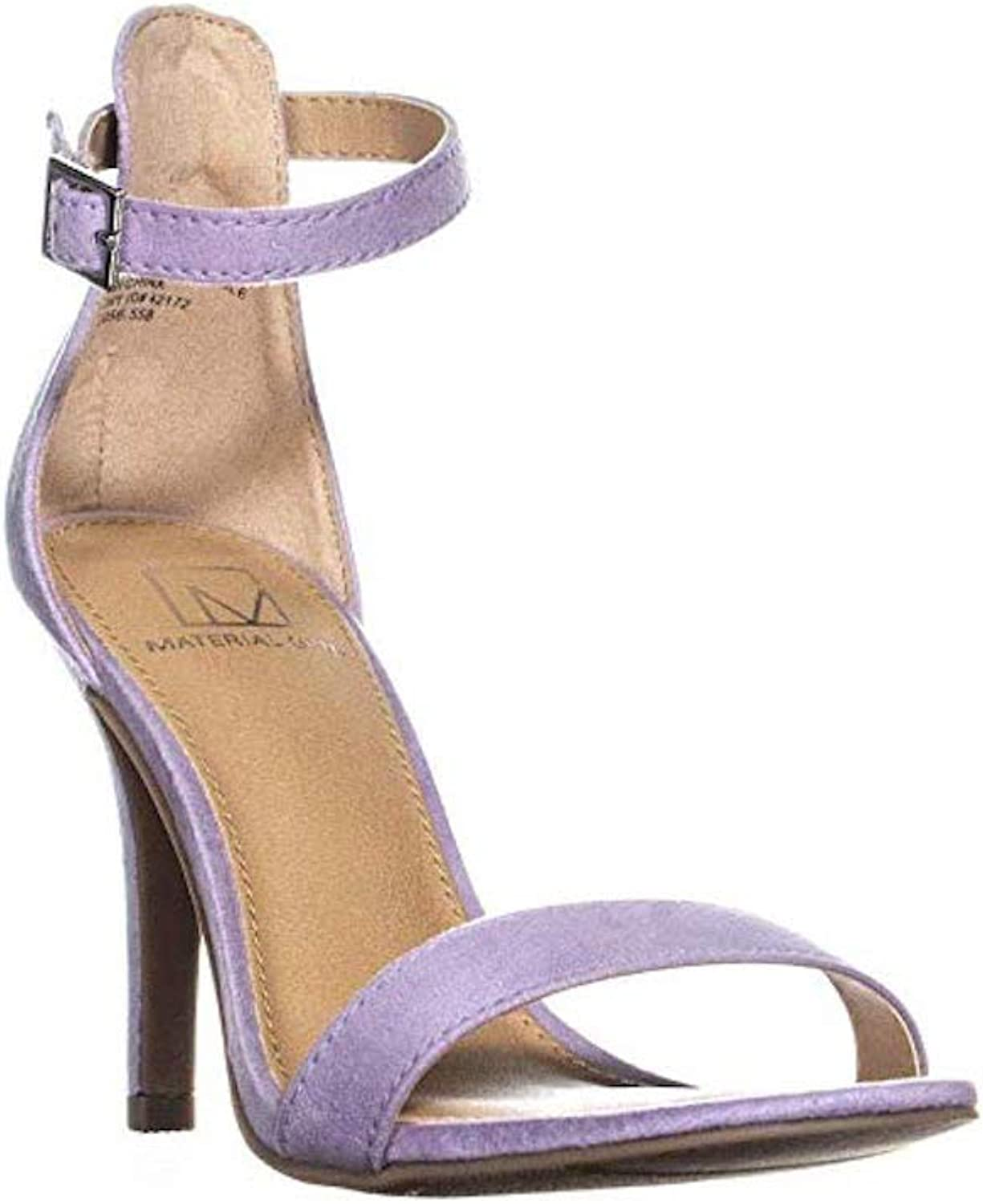 Material Girl Womens Blaire Fabric Open Toe Special Occasion Ankle Strap Sand.