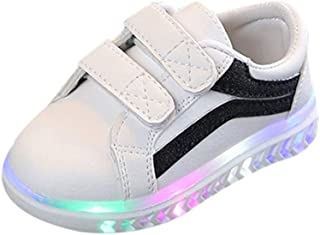 Sceoyche Kids LED Light Shoes, Baby Luminous Velcro Sport Shoes Breathable Outdoor Shoes Non-slip Walking Shoes Soft Infan...