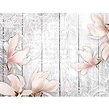 Fototapeten Blumen Vintage Grau 352 x 250 cm Vlies Wand Tapete Wohnzimmer Schlafzimmer Büro Flur Dekoration Wandbilder XXL Moderne Wanddeko Flower 100% MADE IN GERMANY - Runa Tapeten...