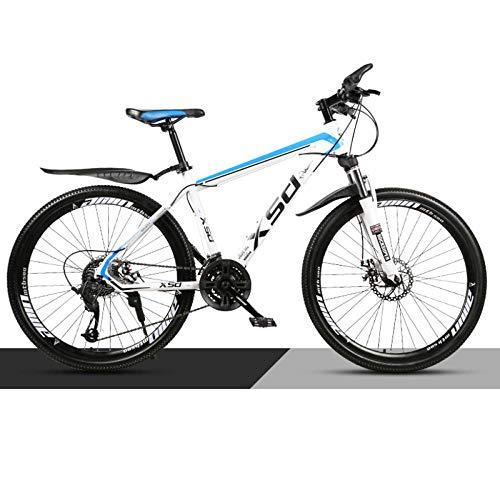 WGFGXQ Mountainbike-Fahrrad 24-Zoll-Räder 21 Hydraulische Scheibenbremse mit Variabler Geschwindigkeit Erwachsener Teenager Fahrrad mit Variabler Geschwindigkeit