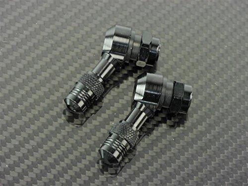 Price comparison product image CNC Aluminium Angle Valve 112, 5 Grad Black Suitable for Bmw R65 0353 1978-1980