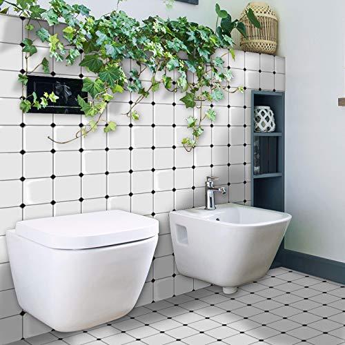 ivAZW Azulejos de Mosaico Adhesivos Pegatinas Impermeable Cocina baño decoración Papel Tapiz Vinilo Resistente al Calor 20 Piezas DJ026 (26x26 cm)