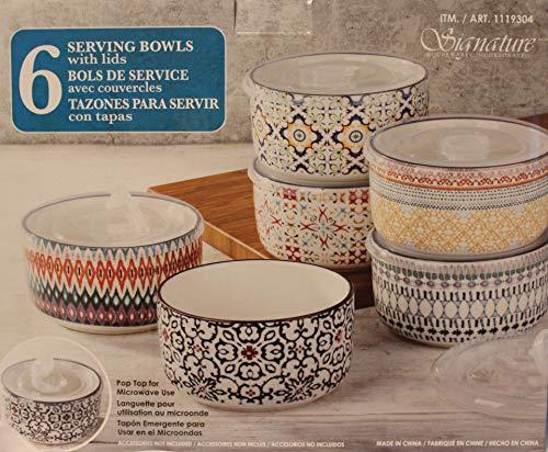 Signature Housewares 6-piece Stoneware Storage Bowls