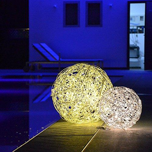 s.LUCE Mesh L LED-Drahtkugel Ø 50 cm Innen & Aussen Stehlampe