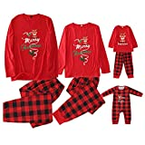riou Conjunto de Pijamas Navideños El nuevo Invierno Otoño Mamá Papá Niños Bebé Chándal Homewear Pijamas Navidenos Familia