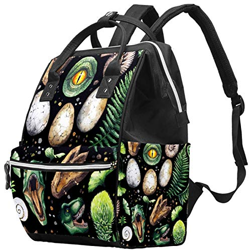 Mummy Changing Bag Backpack Dinasour Tropical Multi-Function Waterproof Diaper Travel Backpack for Baby Care