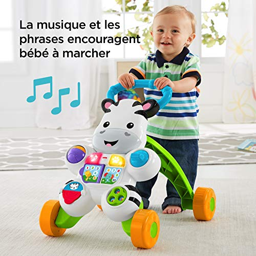 Fisher-Price Mon Trotteur Zèbre Parlant pour apprendre à marcher avec musique et activités...