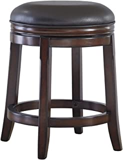 Signature Design By Ashley - Porter Upholstered Swivel Stool - Set of 2 - Casual Style - Rustic Brown