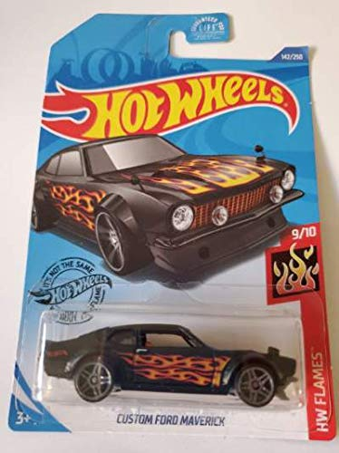 Hot Wheels 2020 Hw Flames Custom Ford Maverick, Black 142/250