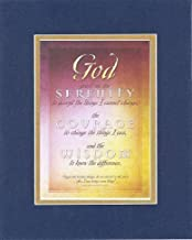 God Grant me The Serenity Prayer 8 x 10 Inches Biblical/Religious Verses Set in Double Beveled Matting (Blue On Gold) - A Timeless and Priceless Poetry Keepsake Collection